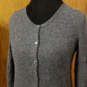 Lark & ro cashmere soft grey cardigan sweater